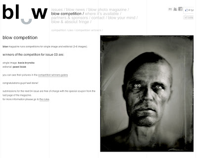 wet plate collodion, award, Blow, kasia kalua krynska