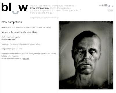 wet plate collodion, award, Blow, kasia kalua krynska